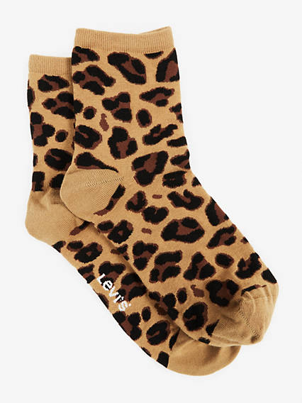 Levis Women Short Sock Leopard 1-Pack
