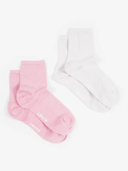 Levis Women Sock Lurex 2P