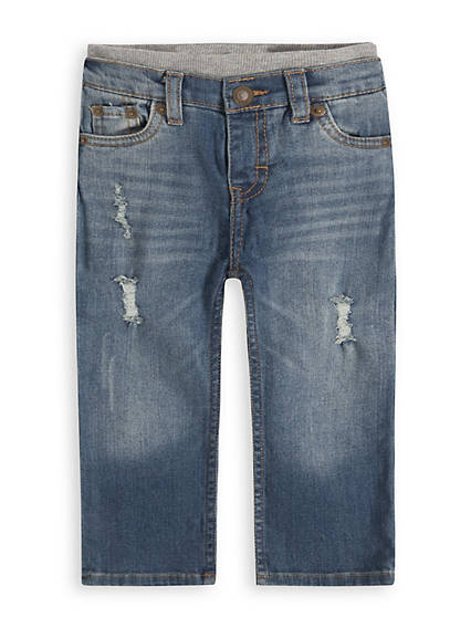 Murphy Pull-On Straight Fit Baby Jeans 12-24M
