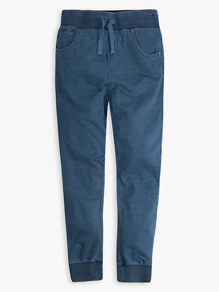 Little Boys 4-7x Indigo Joggers