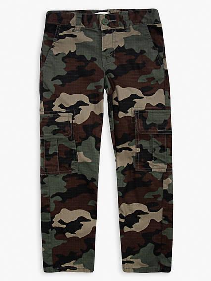 Little Boys 4-7x Stretch Taper Cargo Pants