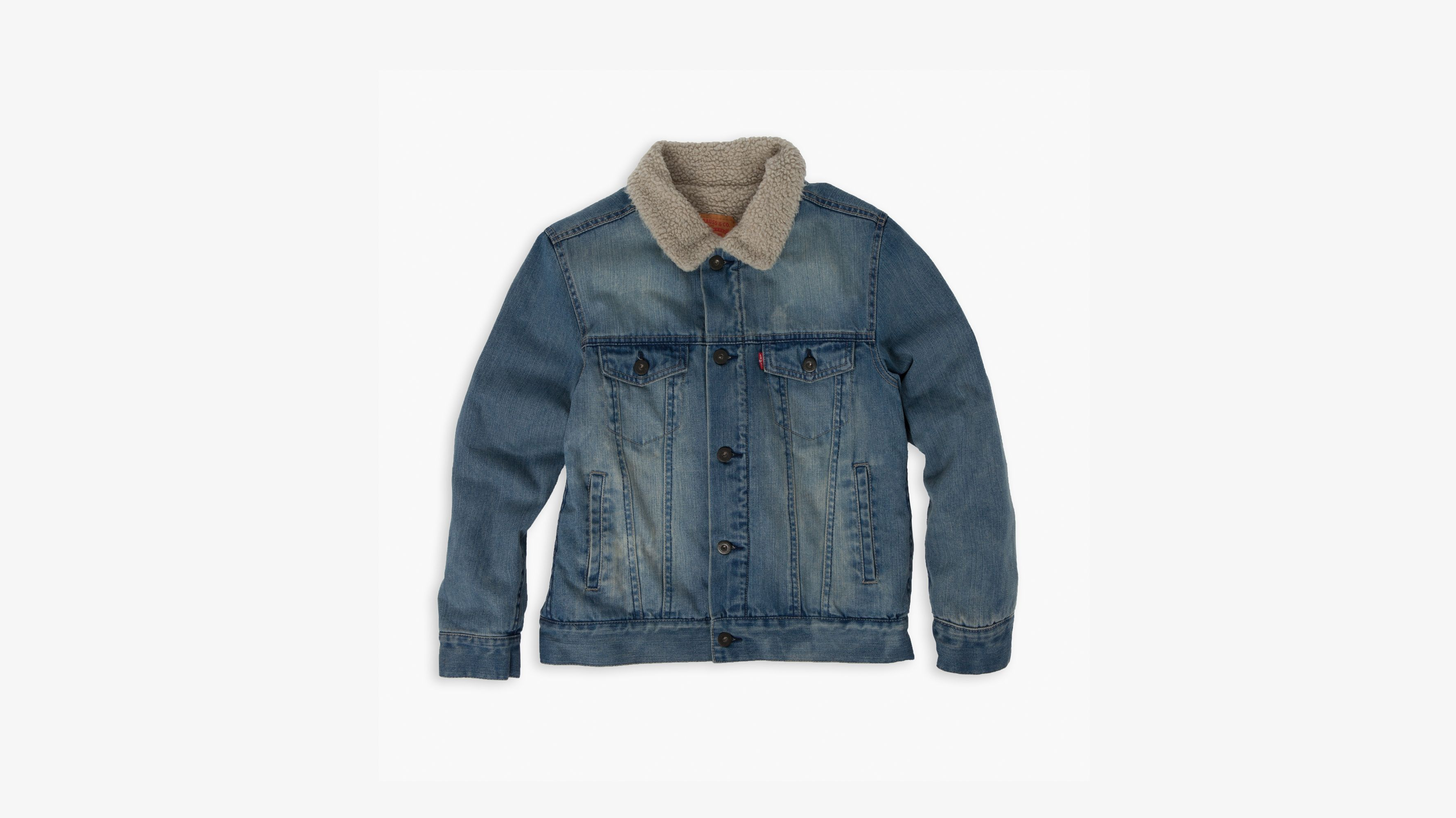 971b0f34 Big Boys Sherpa Trucker Jacket - Medium Wash | Levi's® US