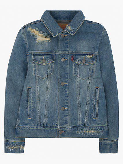 Big Boys S-XL Stretch Denim Trucker Jacket
