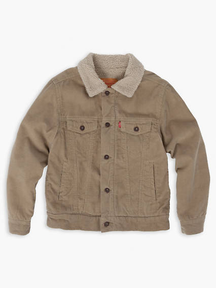 Boys 8-20 Sherpa Trucker Jacket
