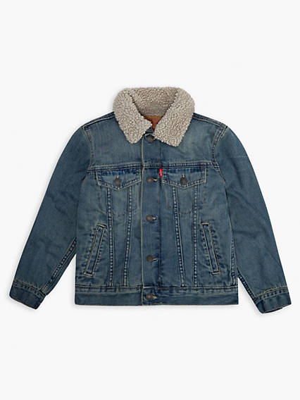 Little Boys 4-7x Sherpa Trucker Jacket