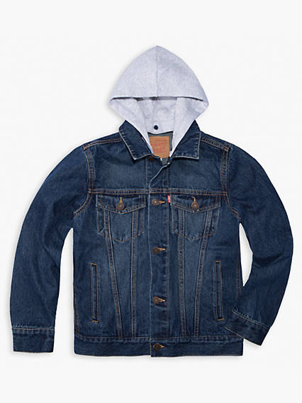Boys 8-20 Hooded Trucker Jacket