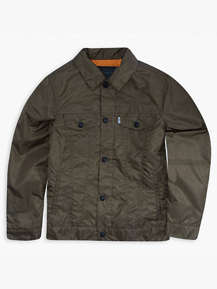 Boys 8-20 Nylon Trucker Jacket