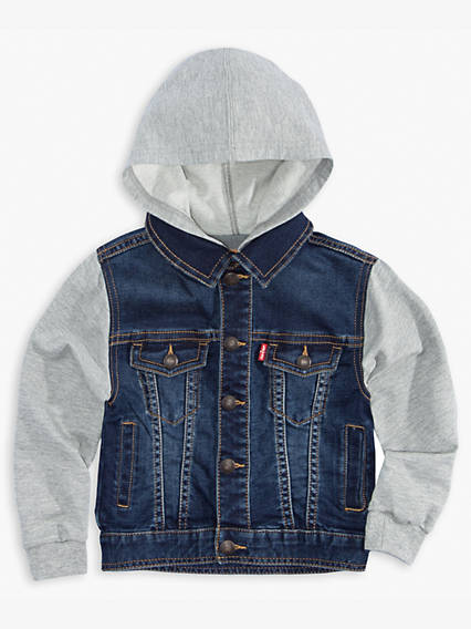 Little Boys 4-7x Indigo Knit Trucker