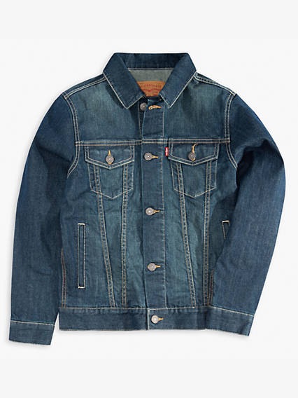 Little Boys 4-7x Denim Trucker Jacket