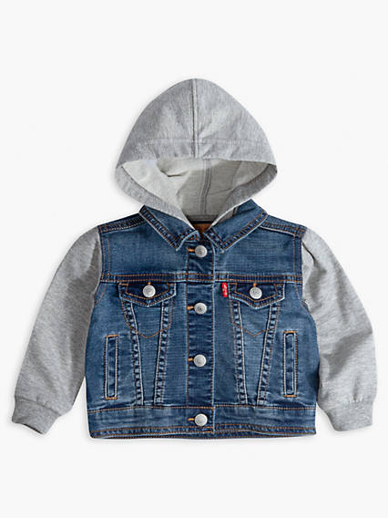 Toddler Boys Indigo Knit Trucker Jacket