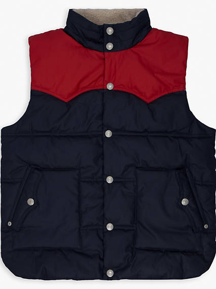 Boys 8-20 Sherpa Lined Puffer Vest