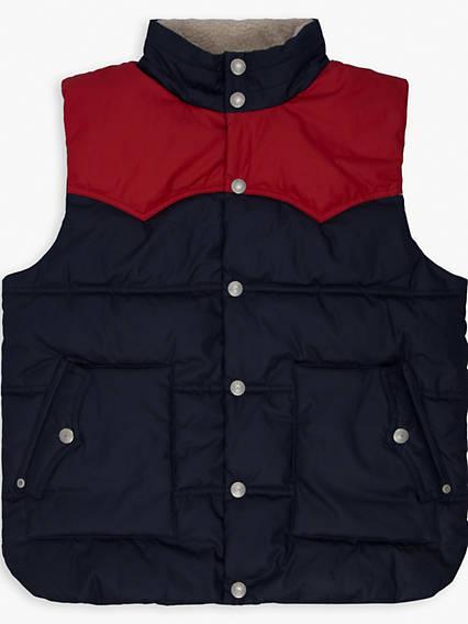 Boys 8-20 Sherpa Lined Puffer Vest