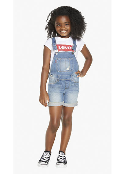 Little Girls 4-6x Denim Shortalls