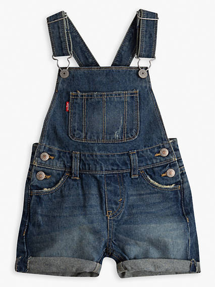 Toddler Girls 2T-4T Denim Shortalls