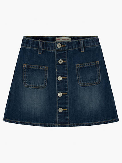 Girls 7-16 High Rise Button Front Skirt