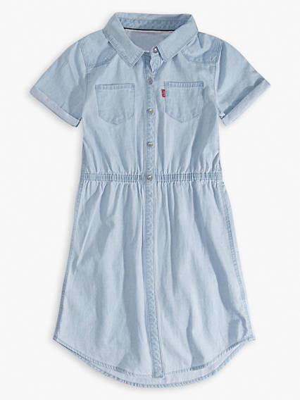 Big Girls Short Sleeve Western Dress