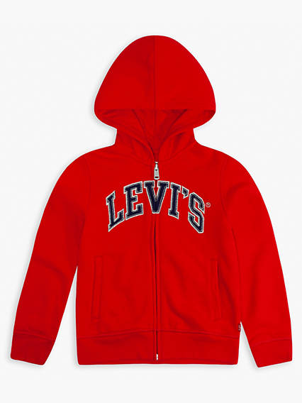 Little Girls 4-6x Embroidered Levi's® Logo Hoodie