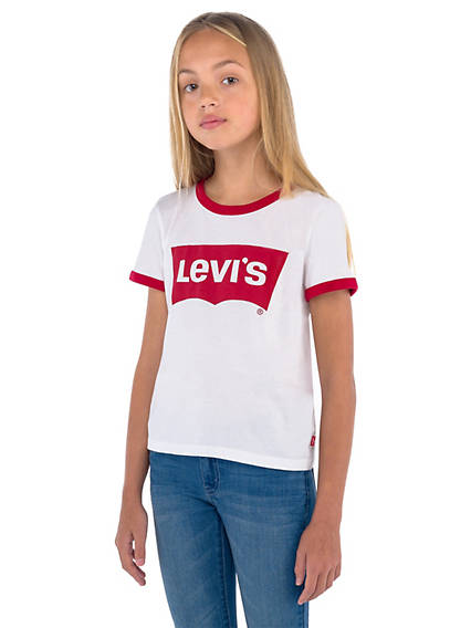 Big Girls Levi's® Retro Ringer Tee Shirt
