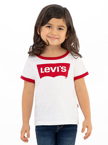 Toddler Girls 2T-4T Retro Ringer Tee Shirt