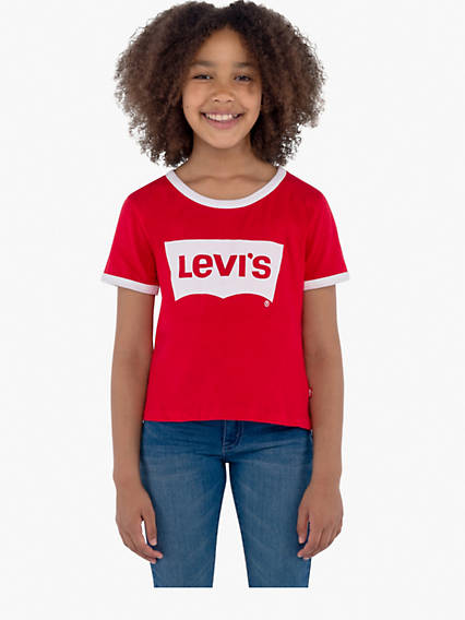 Girls 7-16 Retro Ringer Tee Shirt