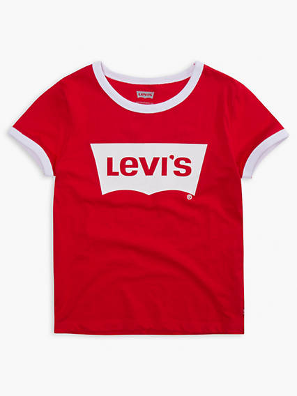 Little Girls 4-6x Retro Ringer Tee Shirt