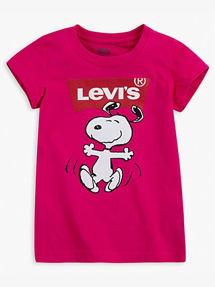 Little Girls Levi's® x Peanuts Logo Tee Shirt