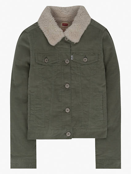 Big Girls Sherpa Trucker Jacket