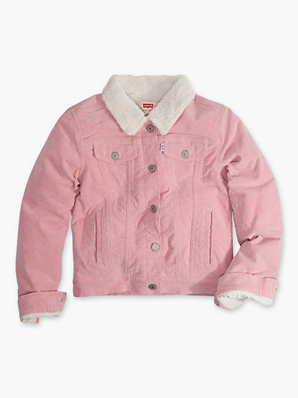Little Girls 4-6x Sherpa Trucker Jacket