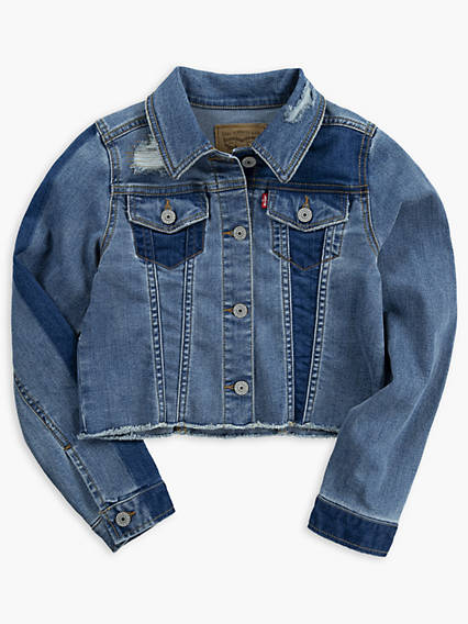 Girls 7-16 Cropped Trucker Jacket
