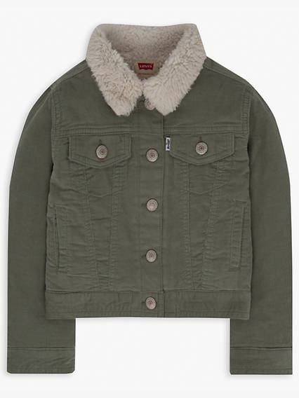 Toddler Girls 2T-4T SherpaTrucker Jacket