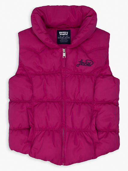 Girls 7-16 Lightweight Puffer Vest