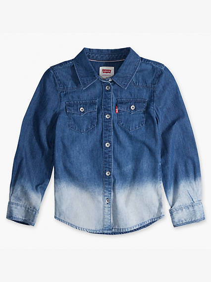 Girls 7-16 Denim Western Shirt