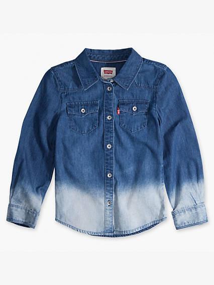 Girls 7-16 Denim Western Shirt