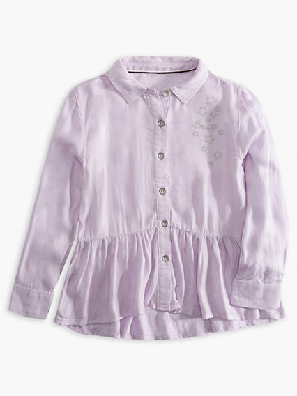 Toddler Girls 2T-4T Woven Peplum Top