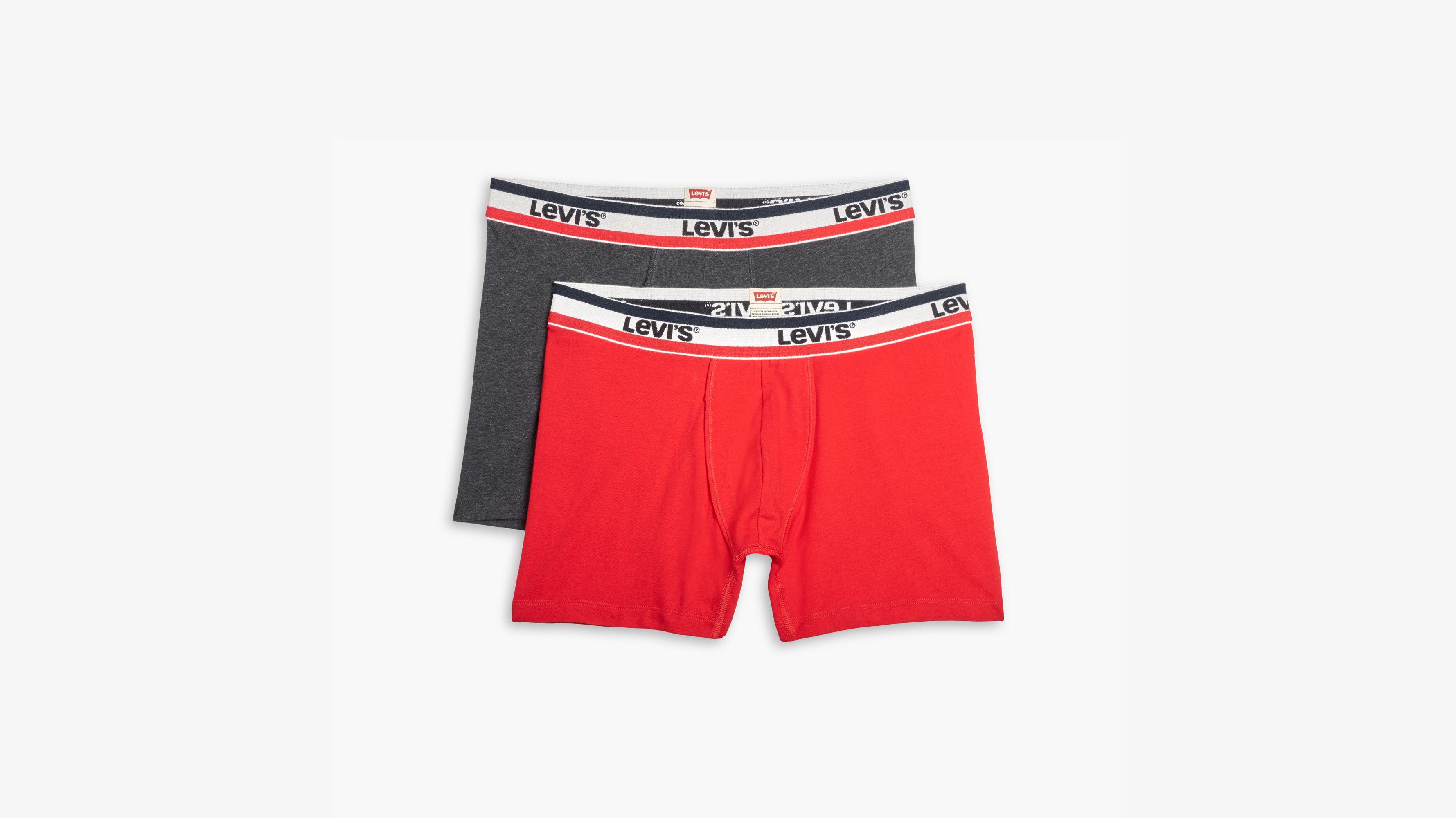 Mens 2-Pack Boxer Briefs Polyester Underwear Trunk Underwear with Aloha Friday Design