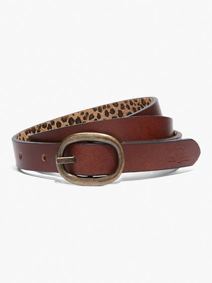 Levi's Leopard Print Belt - Women's 100 Pull your outfit together with everyone's favorite animal print, which will always be in style.