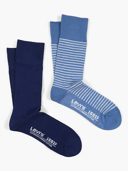 Levis 168SF Regular Cut Vintage Stripe 2 Pack Socks