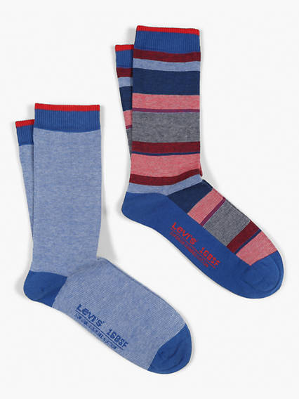 Levis 168SF Regular Micro Stripe Graphic 2 Pack Socks