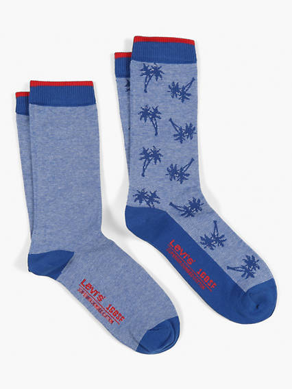 Levis 168SF Regular Micro Stripe Palm 2 Pack Socks