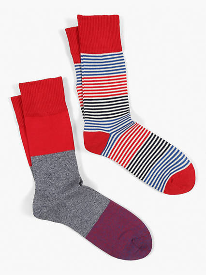 Levis 168SF Engineered Stripe 2 Pack Socks