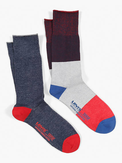 Levis 168SF Colorblock 2 Pack Socks