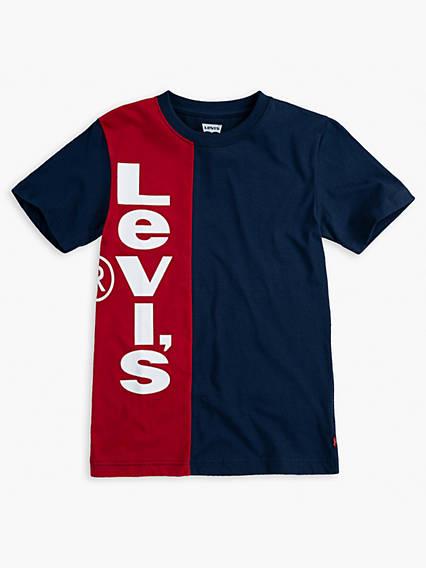 Big Boys Vertical Logo Tee Shirt
