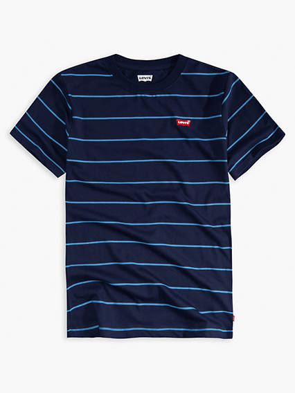 Big Boys Striped Indigo Tee Shirt