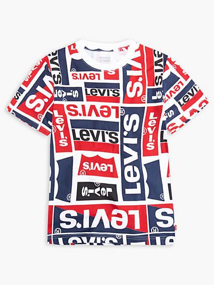 Big Boys Allover Graphic Tee Shirt