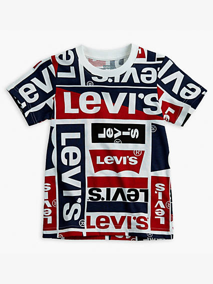 Toddler Boys Allover Graphic Tee Shirt