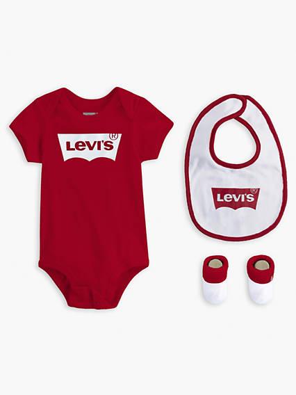 Baby 0-6M Levi's® Logo Bodysuit Gift Set