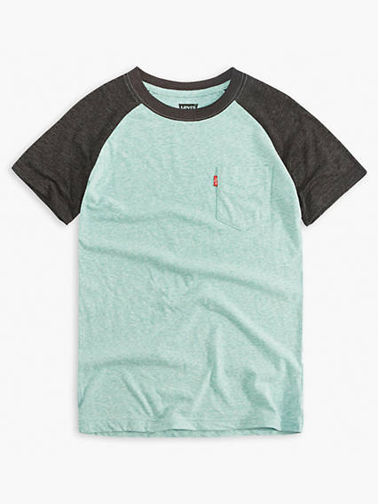 Big Boys Raglan Pocket Tee Shirt