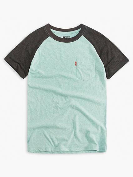 Big Boys Raglan Pocket Tee Shirt