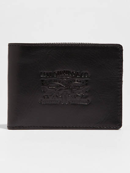 Denim/Leather Bifold With Coin