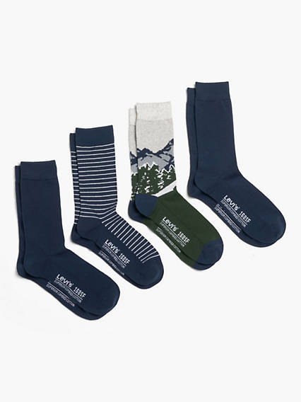Levi's® Regular Cut Socks (4 Pack Gift Tin)